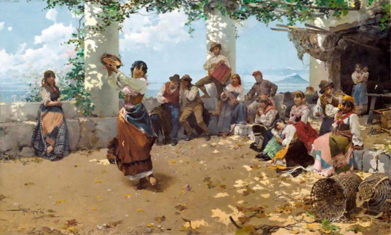 Pandereteras - cadro de Anselmo Guinea
